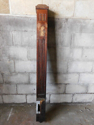 Antique Victorian Fluted Newel Post - Circa 1890 Oak Architectural Salvage