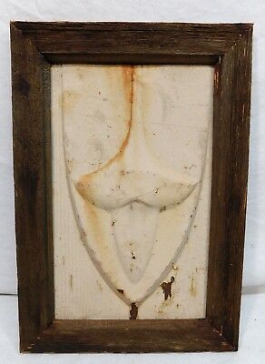 Antique Framed Tin Roofing Tile - C. 1890 Fluer De Lis Architectural Salvage