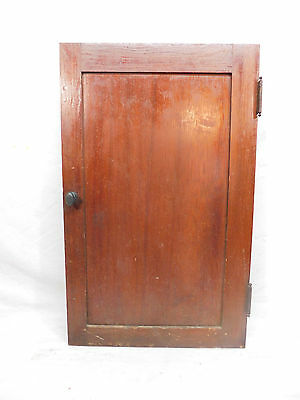 Antique Craftsman Style Cabinet Door - C. 1915 Pine Architectural Salvage