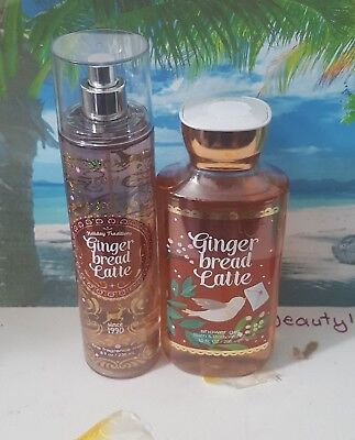 bath and body works gingerbread latte shower gel and fine fragrance mist