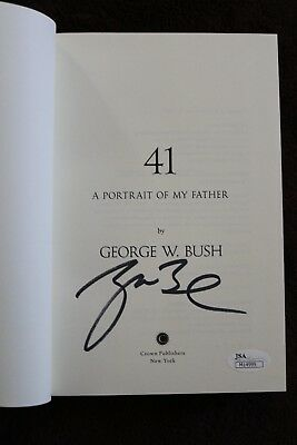 President George W Bush signed Portrait Of My Father JSA COA James Spence