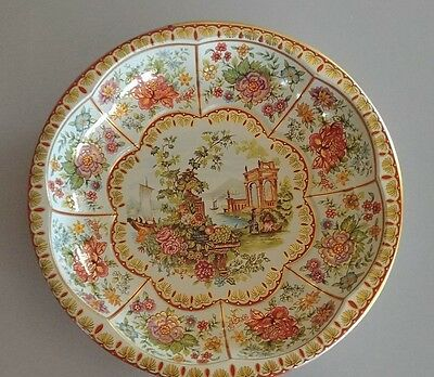 Tin Tray Daher Decorated Ware Round Bowl Vintage 1971 Made in England-Beautiful!