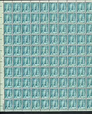 US Sheet MNH #1031A 1 1/4c Sante Fe, Palace of the Governors 1954 series,  1031