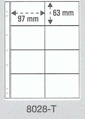 PRINZ PRO-FIL 8 STRIP CLEAR BANKNOTE PAGES Pack 5 Acid Free Sheets Ref No:8028-T