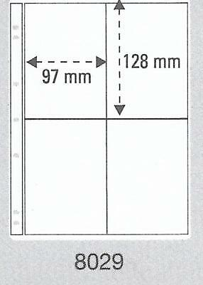 PRINZ PRO-FIL 4 STRIP CLEAR BANKNOTE PAGES Pack 5 Acid Free Sheets Ref No: 8029