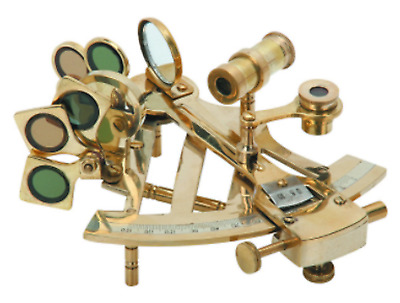 Bookshelf or Desk Brass Sextant Decorative Nautical Tool Sailing Collection New