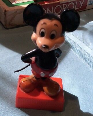 Mickey Mouse Hand Turn Pencil Sharpener Figurine Walt Disney Vtg Made Hong Kong