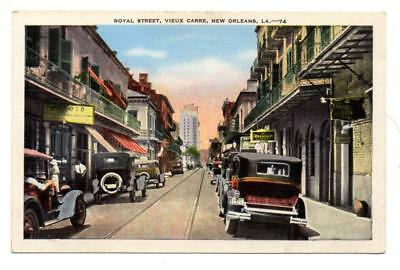 4795* LA New Orleans ROYAL STREET~VIEUX CARRE Old French Quarter 1920s Postcard