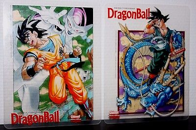 ++ très rare lot de 2 JUMBO CARD dragon ball Z  promo glénat transparente ++