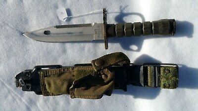 Genuine Military Surplus Phrobis Iii Pat Pend M9 Fighting Knife & Scabbard