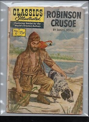 Classics Illustrated #10 Poor   Hrn130  (Robinson Crusoe) Daniel Defoe