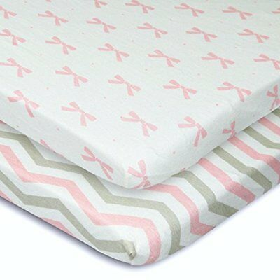 Cuddly Cubs Pack n Play Playard Sheets - Set of 2 Jersey Cotton Fitted Sheets...