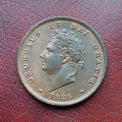 George IV 1826 copper penny