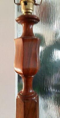 art deco style antique walnut standard lamp