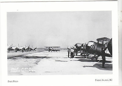 "*Postcard-""Page Field"" (Today Used For Training) - *Parris Island, SC (#147)"