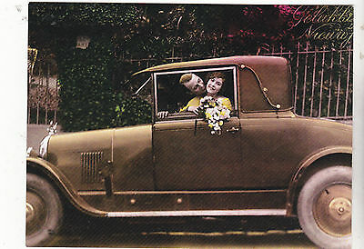 """*Postcard-""""Happily Married Couple in Old Car"""" ...CLASSIC--  (#322)"""