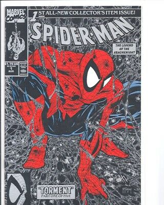 Spider-Man #1 (Aug 1990, Marvel) Silver Cover Todd McFarlane