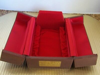 Gold Korean Crown BOX Chunma-Chong National Treasure Box ONLY REd Velvet Brown