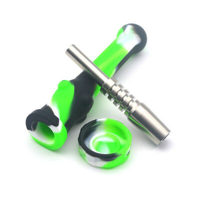 14mm Silicone Nectar Collector Pipe Equipped with 14mm Titanium Tip