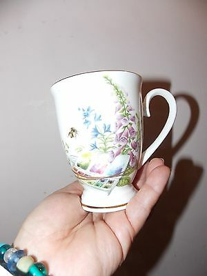 Beautiful Bee And Wild Flowers Bone China Cup Royal Patrician Staffordshire Engl