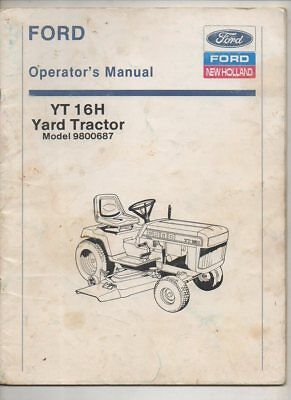 original ford lawn tractors parts manual yt 16h 20 00 picclick rh picclick com Ford YT-16 Lawn Tractor Parts Ford YT-16 Attachments