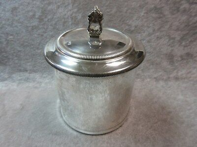 Sterling Silver Del Pilar Peruvian Cannister w/ Lid - Peruana
