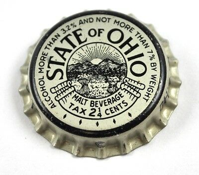 Vintage State of Ohio Malt Brew Soda Bier Kronkorken USA Bottle Cap Korkdichtung