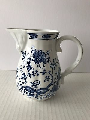 Blue Phenix Blue Onion Pattern Pitcher