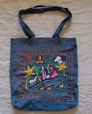 Hand embroidered Egyptian Shoulder bag -Farmer traditional scenes
