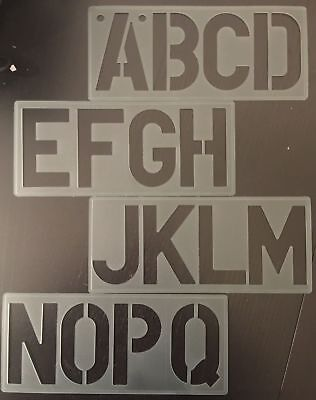 100mm High Stencil Alphabet Lettering Stencil A to Z Numbers Symbols Signwriting