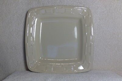4 Longaberger Woven Traditions Soft Square Luncheon/Bread Plate-Ivory-Retired -