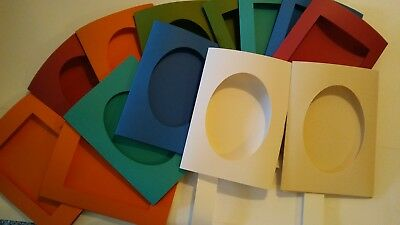 """Lot of 4: Extra Large 5 7/8"""" x 8"""" Tri-fold Blank Card - Color/Opening Of Choice"""