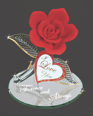 Glass Baron ~ Red Rose Forever and Always ~ Great Valentine's Gift ~ New in Box