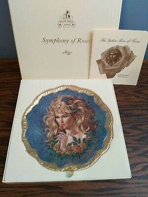 'The Yellow Rose' Pickard Collector's Plate, Free Shipping!