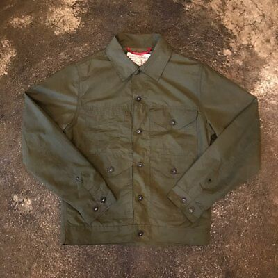 NEW mens L/large filson short lined cruiser Jacket olive $325 made in USA