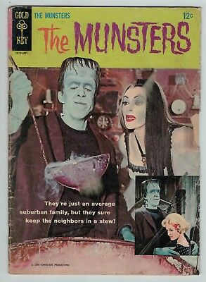 The Munsters 1 silver age TV series photo cover Gold Key 1964 low grade Cheap