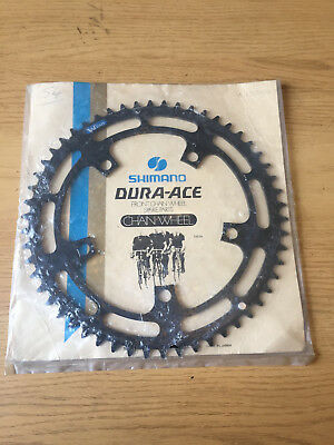 NOS Shimano Dura Ace Black 1st Gen Chainring 54t 130bcd Road, New Unused 1970s