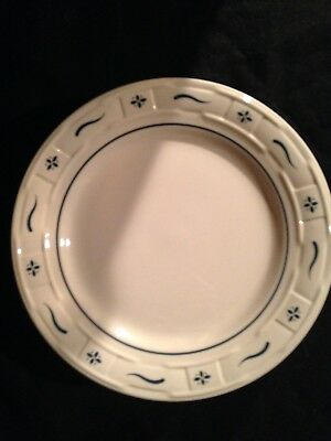 Set 4 Longaberger WT Classic Blue Pottery Dinner Plates USA Display NEW