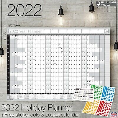2019 Yearly Planner Annual Wall Chart Year Planner & a FREE 2 Year Desk Calendar