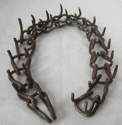 RARE ANTIQUE vintage  DOG  spiked  COLLAR, wrought iron
