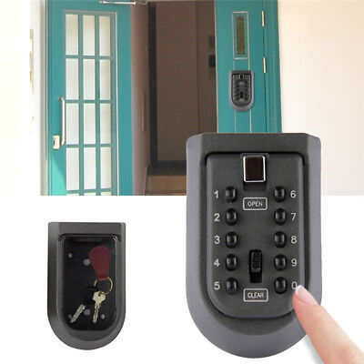 Password Outdoor Combination Key Safe Lock Box Security Storage Box Wall Mount