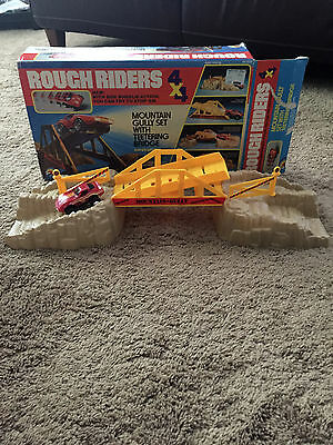 Vintage Rough Riders 4X4 Play Set w/ Red Corvette Complete w/ Box
