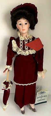 "Vintage Vivian D-54 The Heritage Victorian Collection 15"" Porcelain Doll NIB"