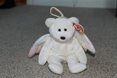 REDUCED - Ty Beanie Baby Halo - MWMT (Bear Angel '98)  - PE Pellets with errors