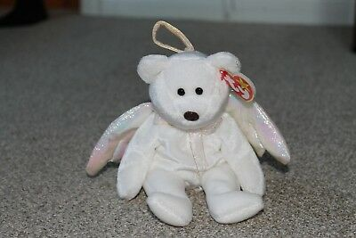 Ty Beanie Baby Halo - MWMT (Bear Angel 1998) Christmas - PE Pellets with errors