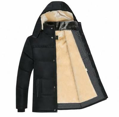 NWT Men's Winter Warm Parka coat with detachable hood outerwear