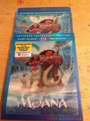 Moana 3D (Blu-ray/DVD,2017+Digital,3D)NEW AUTHENTIC Disney US RELEASE