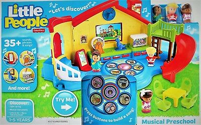 Fisher-Price Little People Musical Preschool Playset w/ Music Songs & Lights