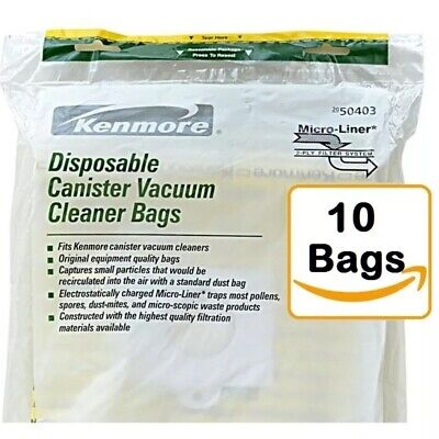 Kenmore  Canister Vacuum Cleaner Bags 50403, 10-count. Free Shipping