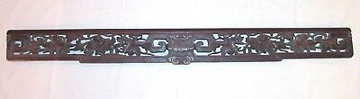 LARGE antique carved wood Japanese sculpture pediment architectural salvage wall